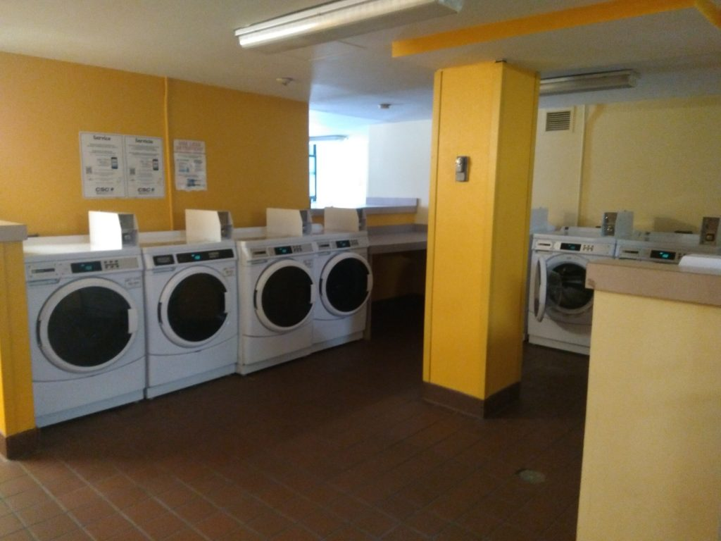 Laundry room in George's dorm.